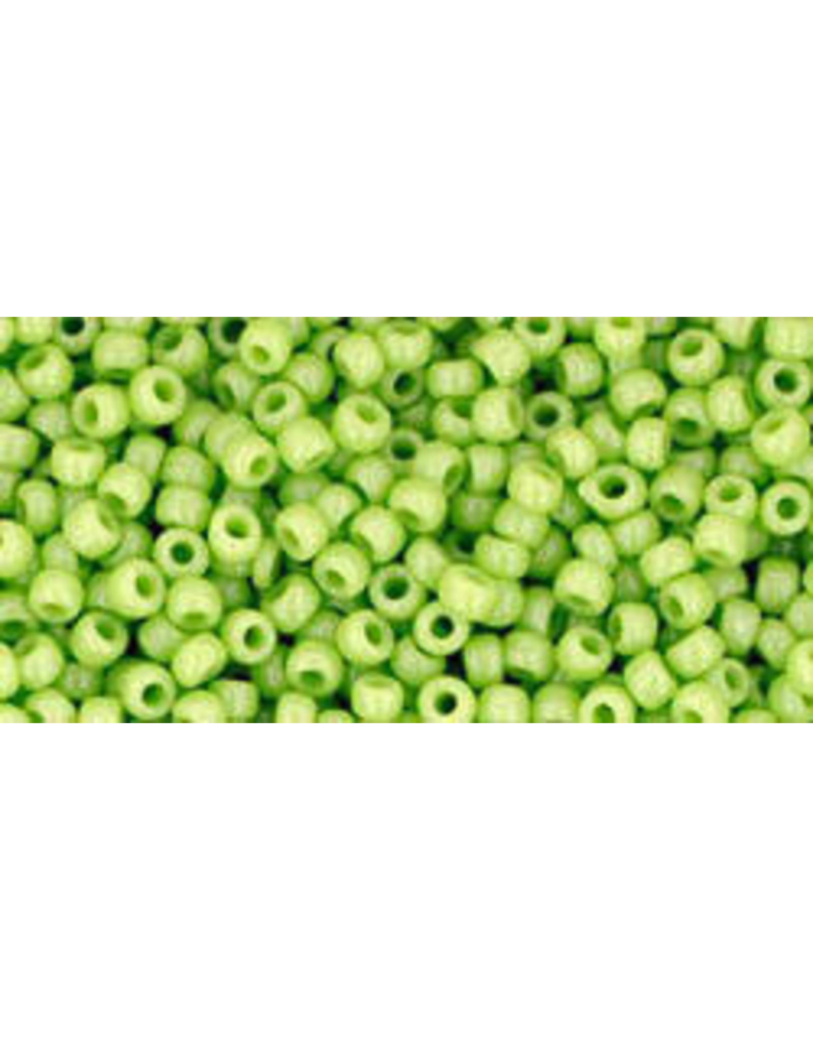 Toho 44 11  Round 6g Opaque Sour Apple Green