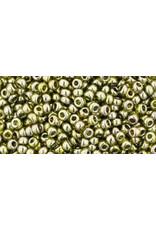 Toho 457B 11 Toho Round 40g  Transparent Green Tea Lustre