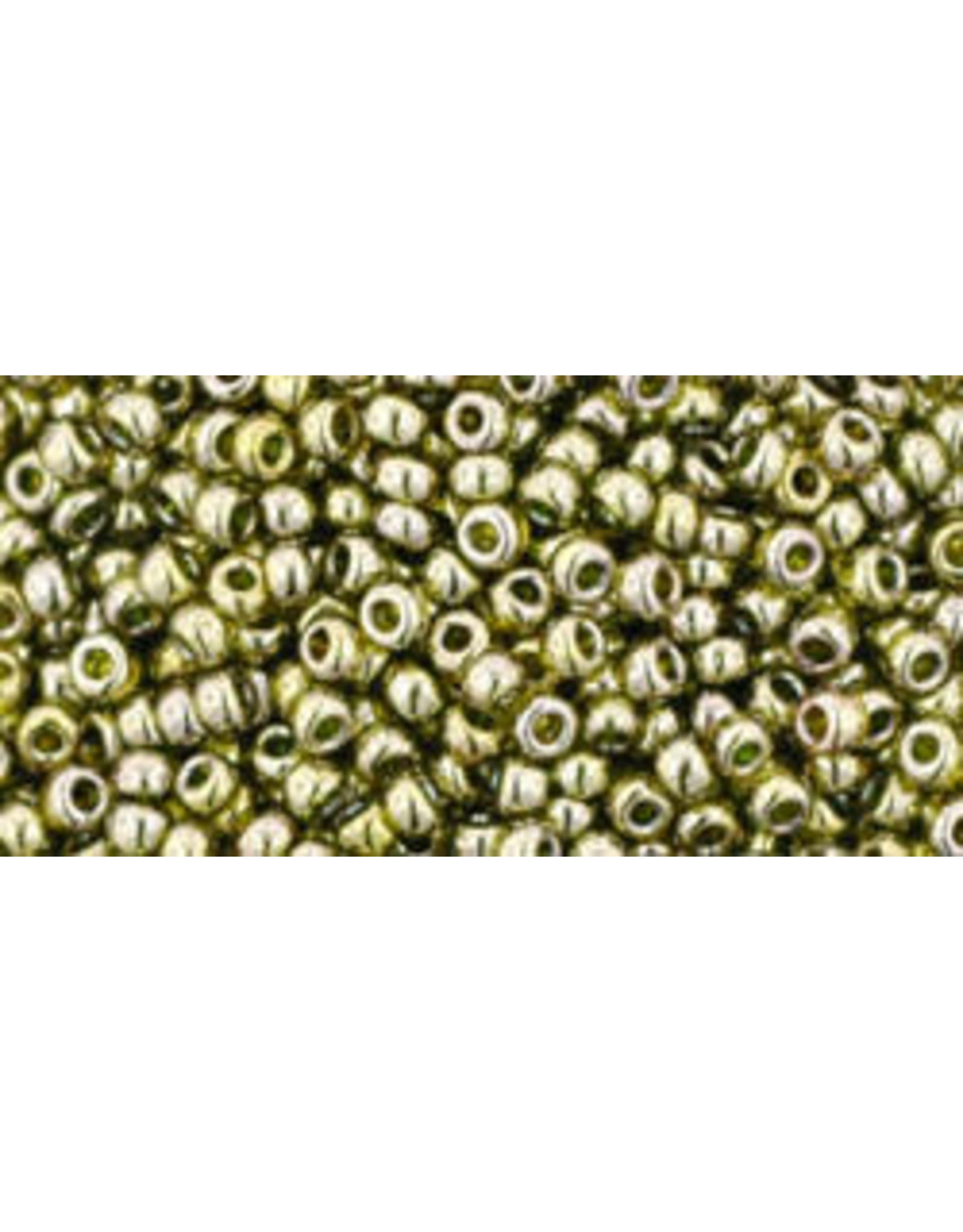 Toho 457B 11  Round 40g  Transparent Green Tea Lustre