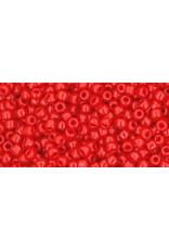 Toho 45a 11 Toho Round 6g Opaque Cherry Red