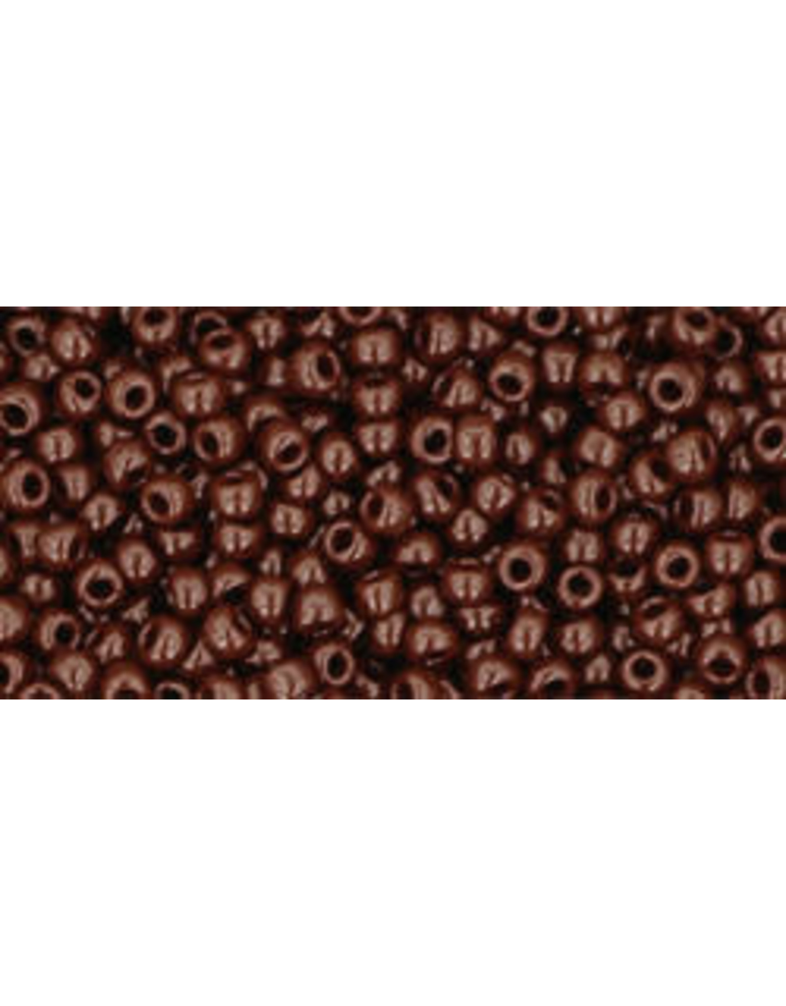 Toho 46B 11  Round 40g Opaque Oxblood Brown