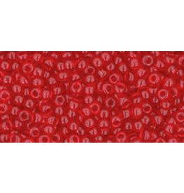 Toho 5b 11 Toho Round 6g Transparent Siam Red