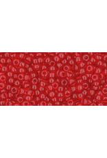 Toho 5b 11  Round 6g Transparent Siam Red