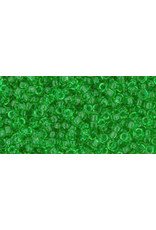 Toho 7 11  Round 6g Transparent Peridot Green