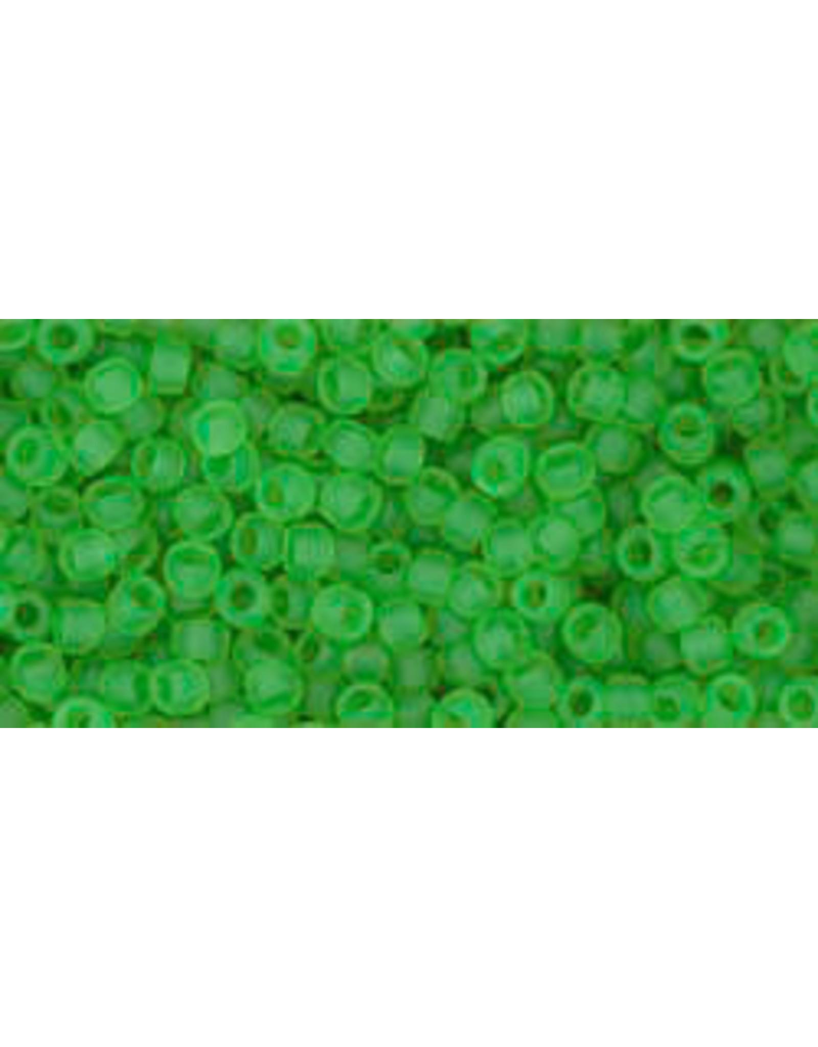 Toho 7f 11  Round 6g Transparent Peridot Green Matte
