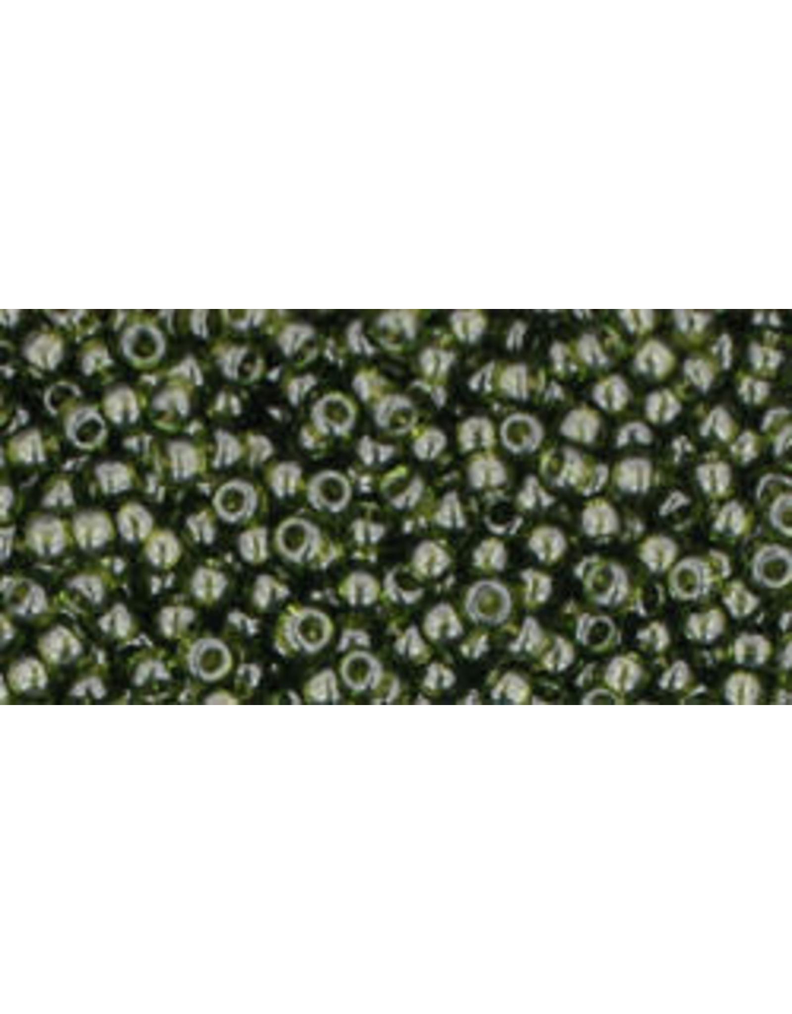 Toho 940B 11  Round 40g Transparent Olive Green