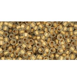 Toho 989f 11 Toho Round 6g clear Gold c/l Matte