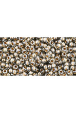 Toho 993B 11  Round 40g Black Diamond Grey Gold c/l