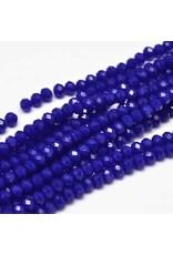 4x3mm Rondelle  Transparent Cobalt Blue   x130