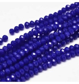 4x3mm Rondelle Chinese Crystal  x130 Tr Cobalt Blue