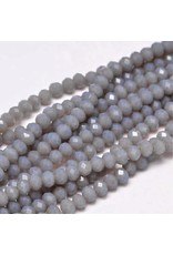 4x3mm Rondelle Chinese Crystal x130 Grey