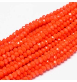 4x3mm Rondelle Chinese Crystal x130  Opaque Orange