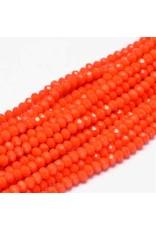 4x3mm Rondelle  Opaque Orange  x130