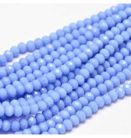 4x3mm Rondelle Chinese Crystal x130 Opaque Cornflower Blue
