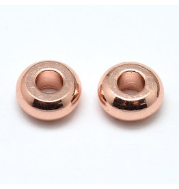 Spacer Bead 4x1.5mm Rose Gold x100