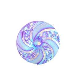 Swirl Round Resin Cabochon 16x3mm  Purple Violet  x10