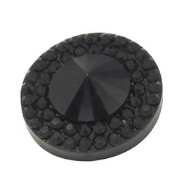 Pointy Round Resin Cabochon 10x4mm Jet Black x10