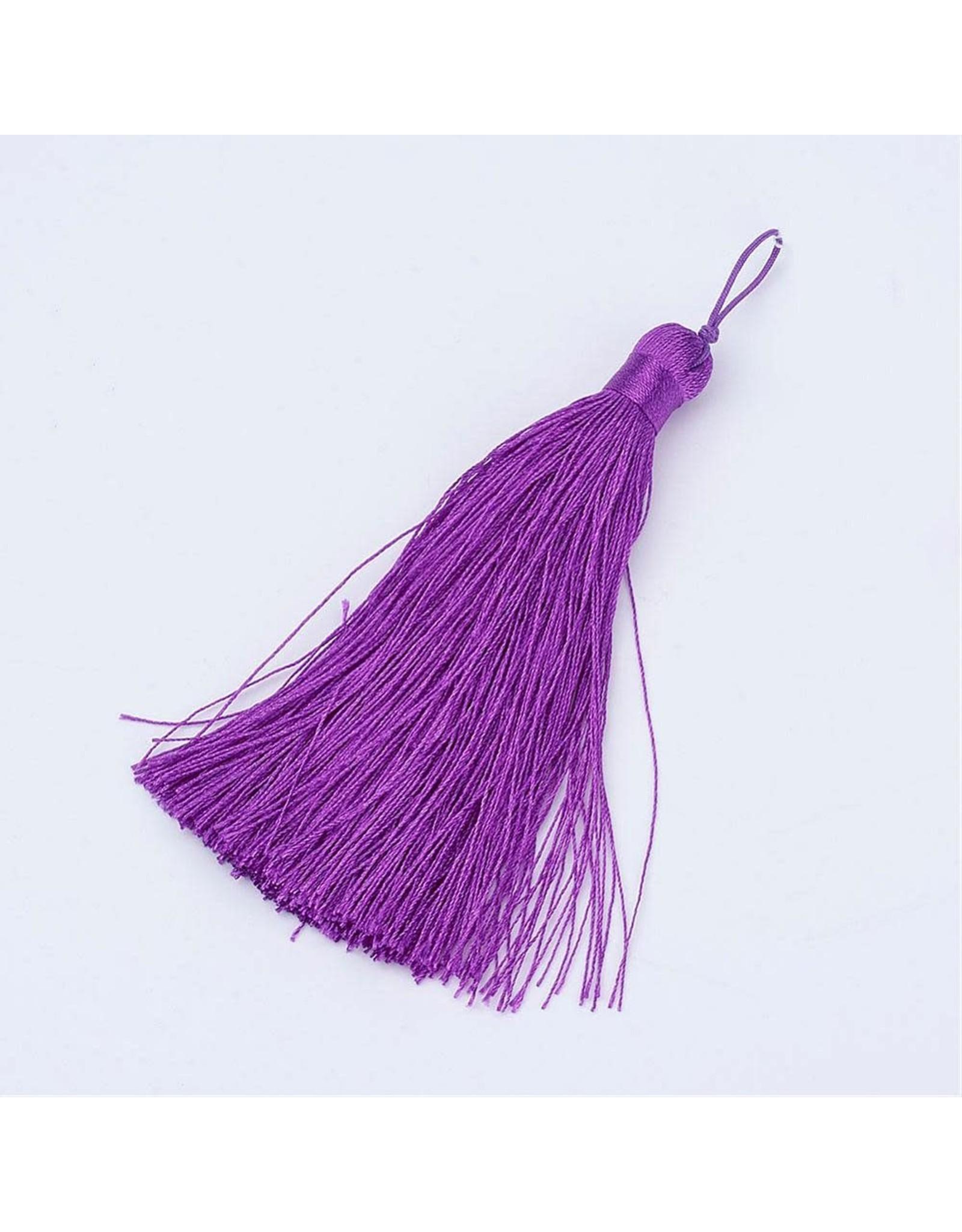 Dark Orchid Purple Tassel 105x11mm