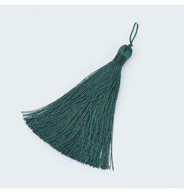 Dark Teal Green Tassel 105x11mm