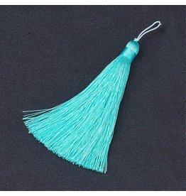 Cyan Turquoise Blue Tassel 105x11mm