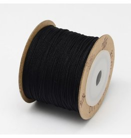 Chinese Knotting Cord .8mm Black x100m