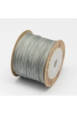 Chinese Knotting Cord .8mm Silver Grey x100m