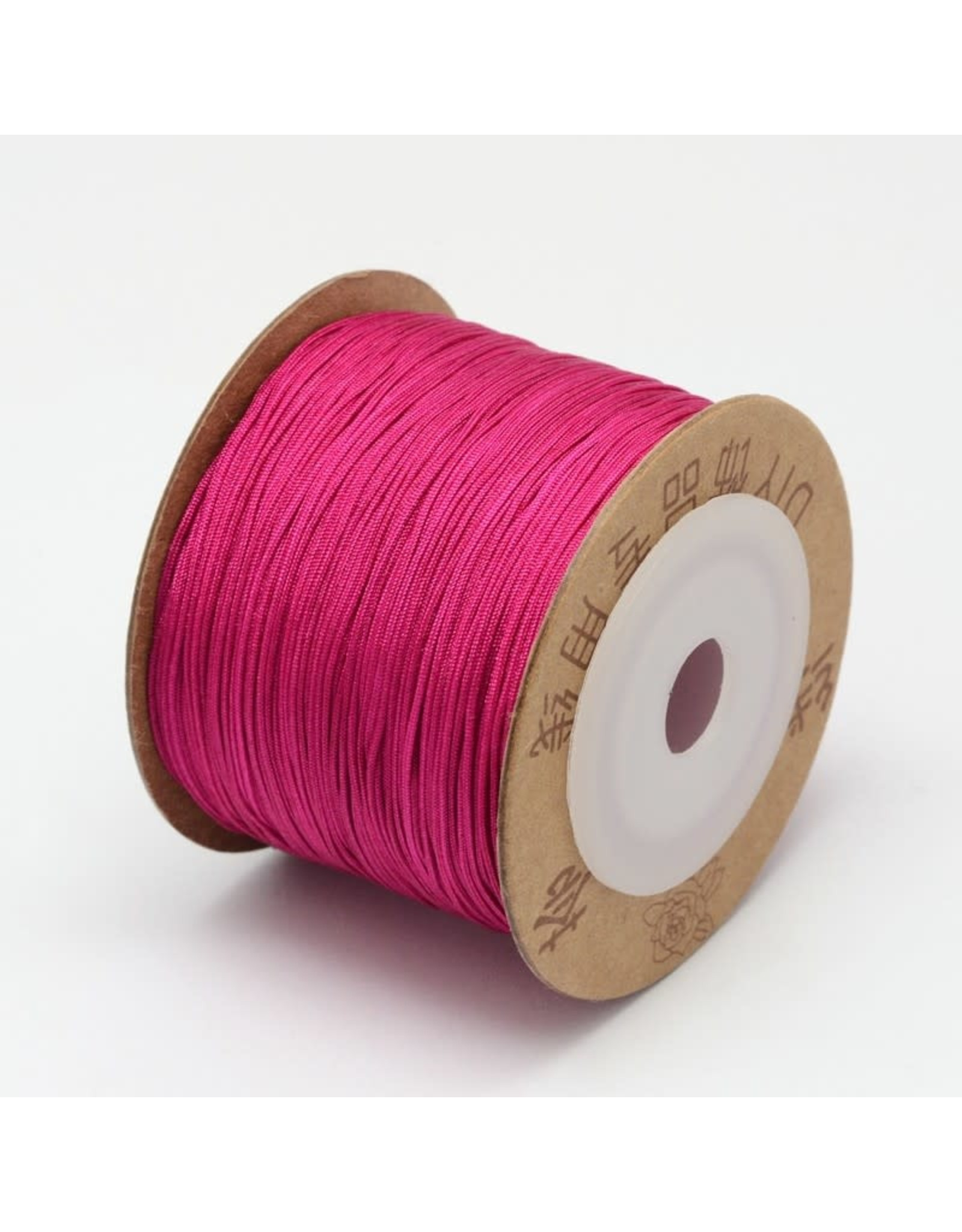 Chinese Knotting Cord .8mm Dark Pink x100m