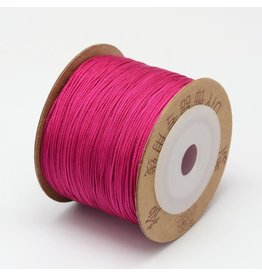 Chinese Knotting Cord .8mm Dark Pink x100m