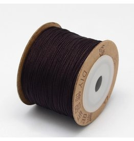 Chinese Knotting Cord .8mm Dark Coconut Brown x100m