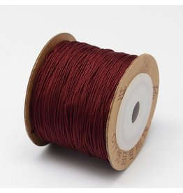 Chinese Knotting Cord .8mm Crimson Wine Red x100m