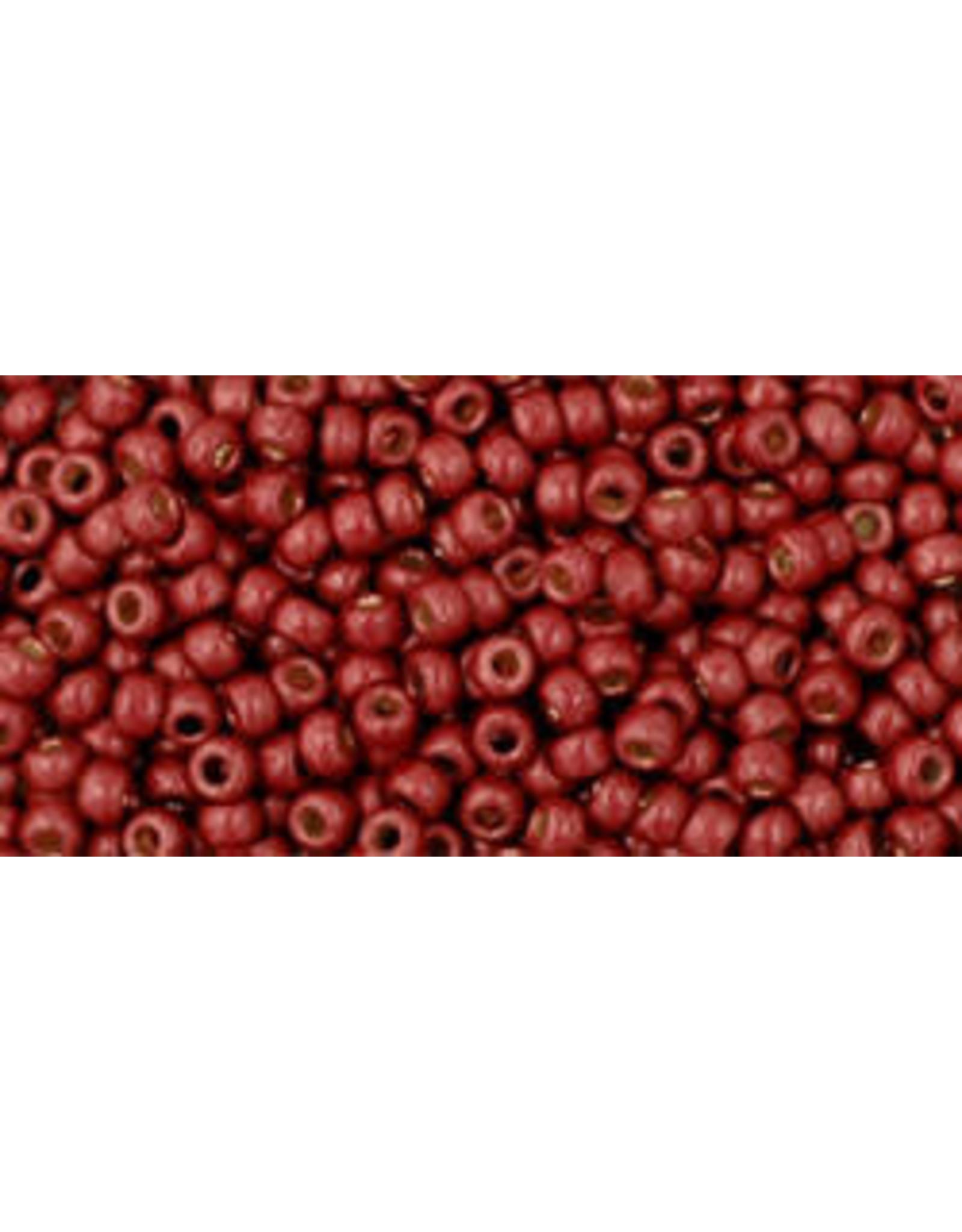 Toho pf564f 11 Toho Round 6g Brick Red Metallic Matte