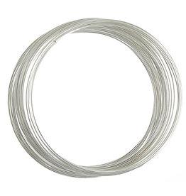 Memory Wire Bracelet Silver .5oz  2.25-2.63''