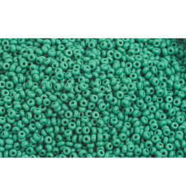 Czech 1020B 10 Czech Seed 250g Opaque Medium Dark Green