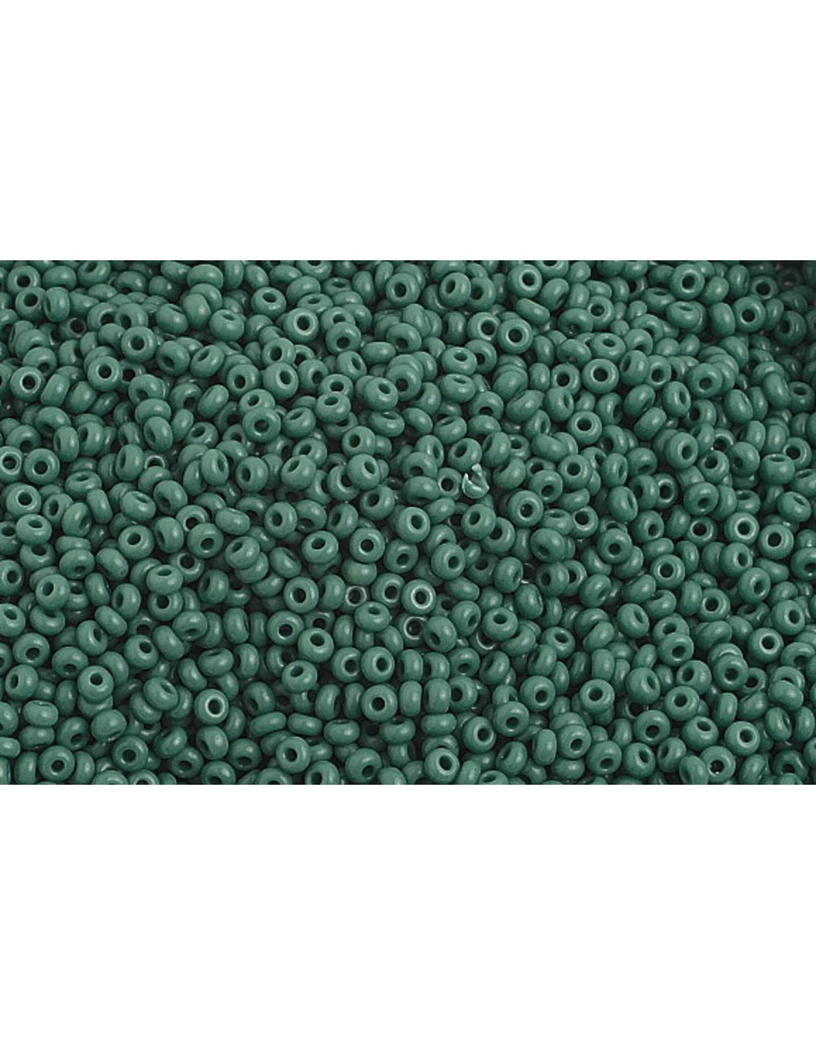 Czech 1022 10   Seed 20g Opaque Dark Green