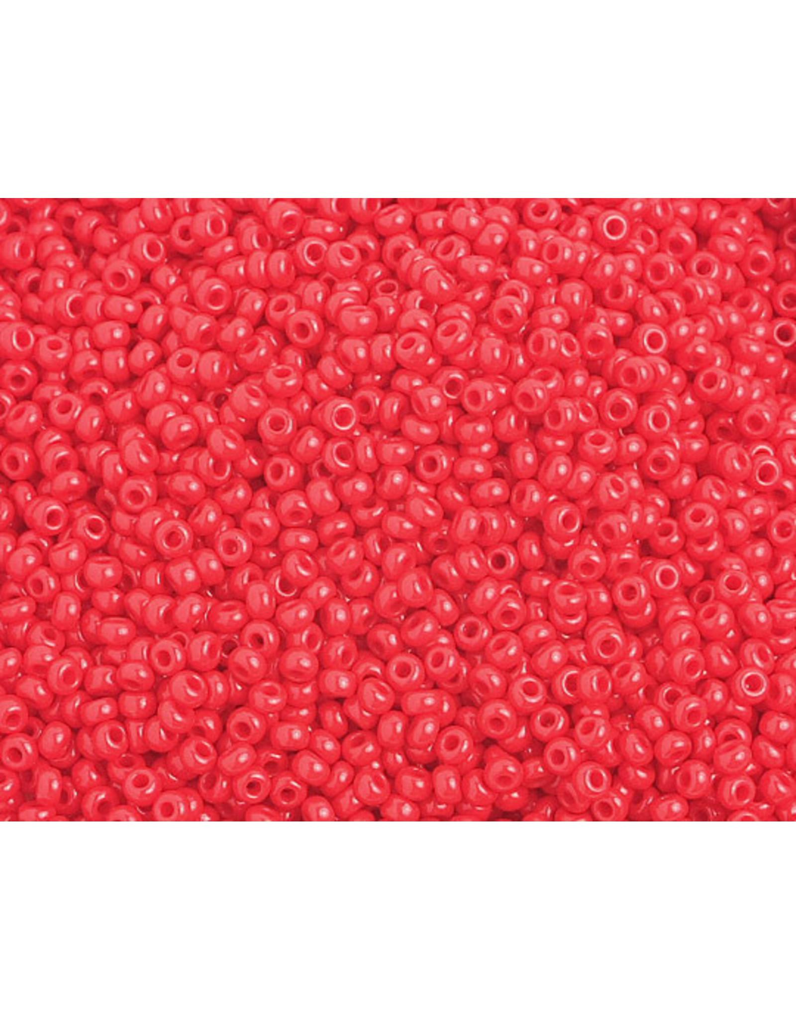 Czech 1026B 10 Czech Seed 250g Opaque Medium Red
