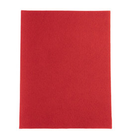 Felt Beading Foundation Red 1.5mm thick 8.5x11""