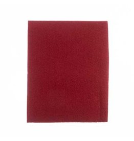 "Felt Beading Foundation Dark Red 1.5mm thick 8.5x11"""