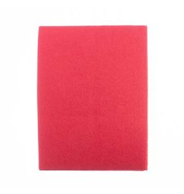 Felt Beading Foundation Bright Red 1.5mm thick 8.5x11""