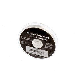Silk Elastic Cord White .68mm x10m
