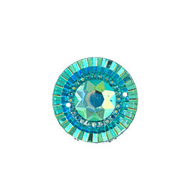 Round Resin Cabochon 20mm Turquoise Blue AB  x10