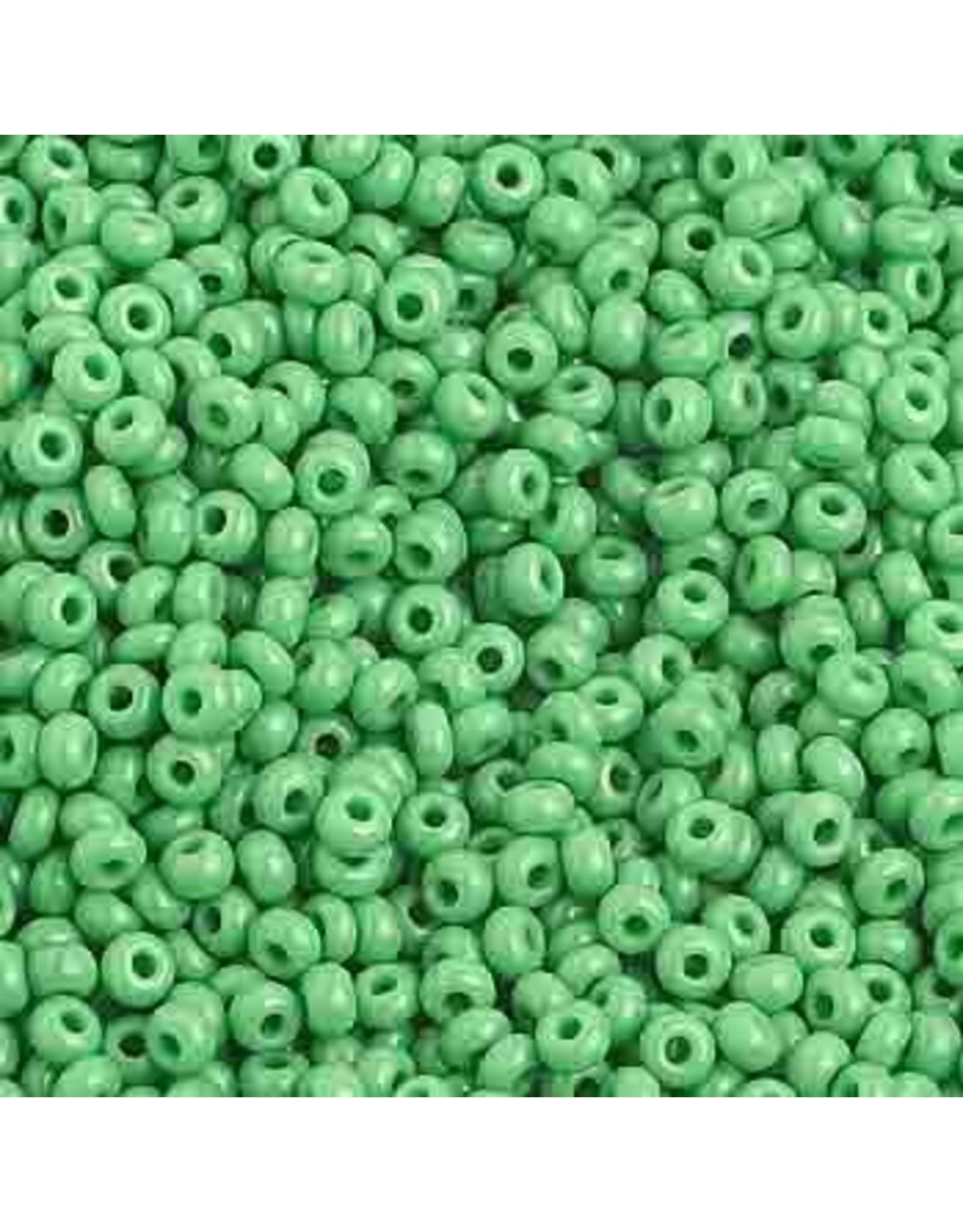 Czech 1018B 10 Czech Seed 250g Opaque  Medium Green
