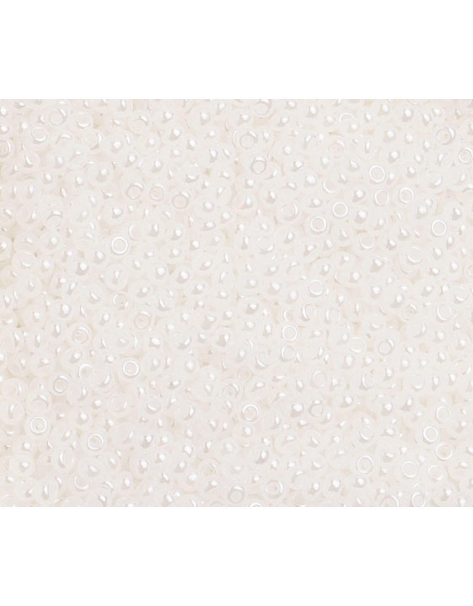Czech 1476B 10   Seed 250g Opaque Pearl White