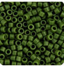 Miyuki db1135b 11 Delica 25g Opaque Avacado Green