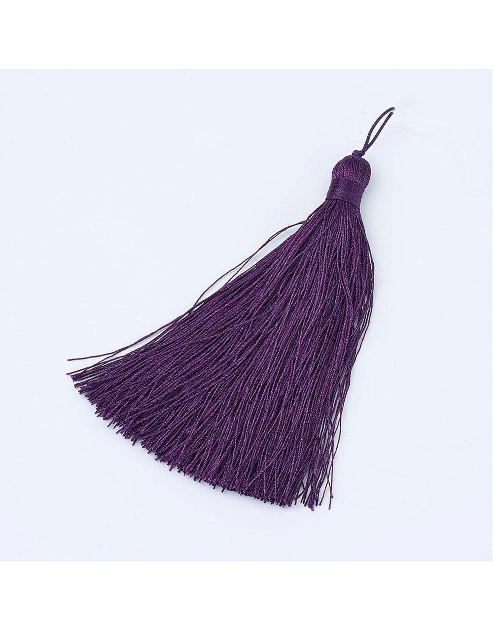 Amethyst Purple Tassel 105x11mm