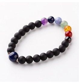 Bracelet with Chakra Stones 8mm