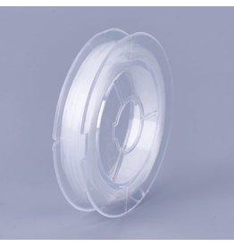 Silk Elastic Cord White .8mm x10m