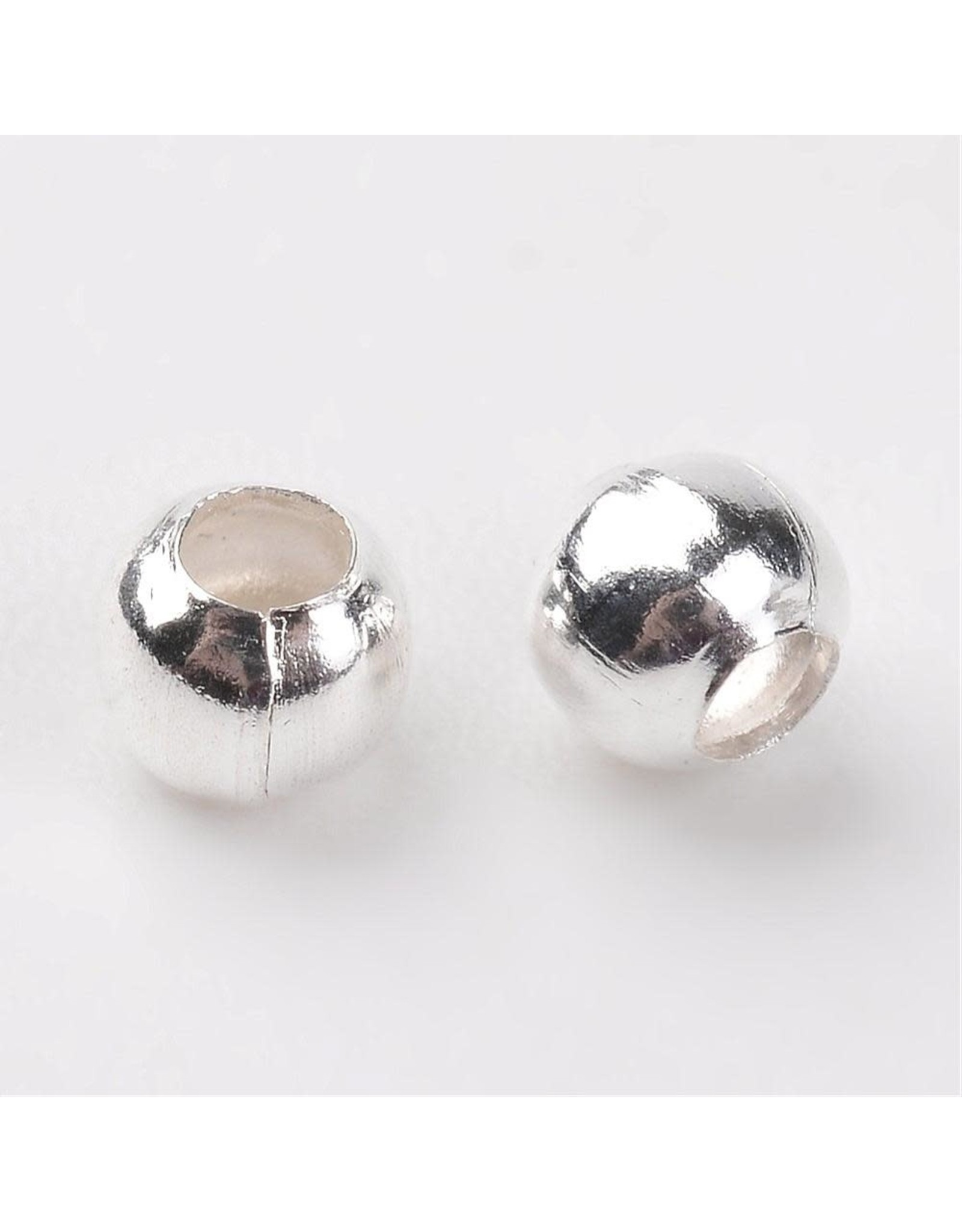 Spacer Bead Round 3mm  Silver  x100