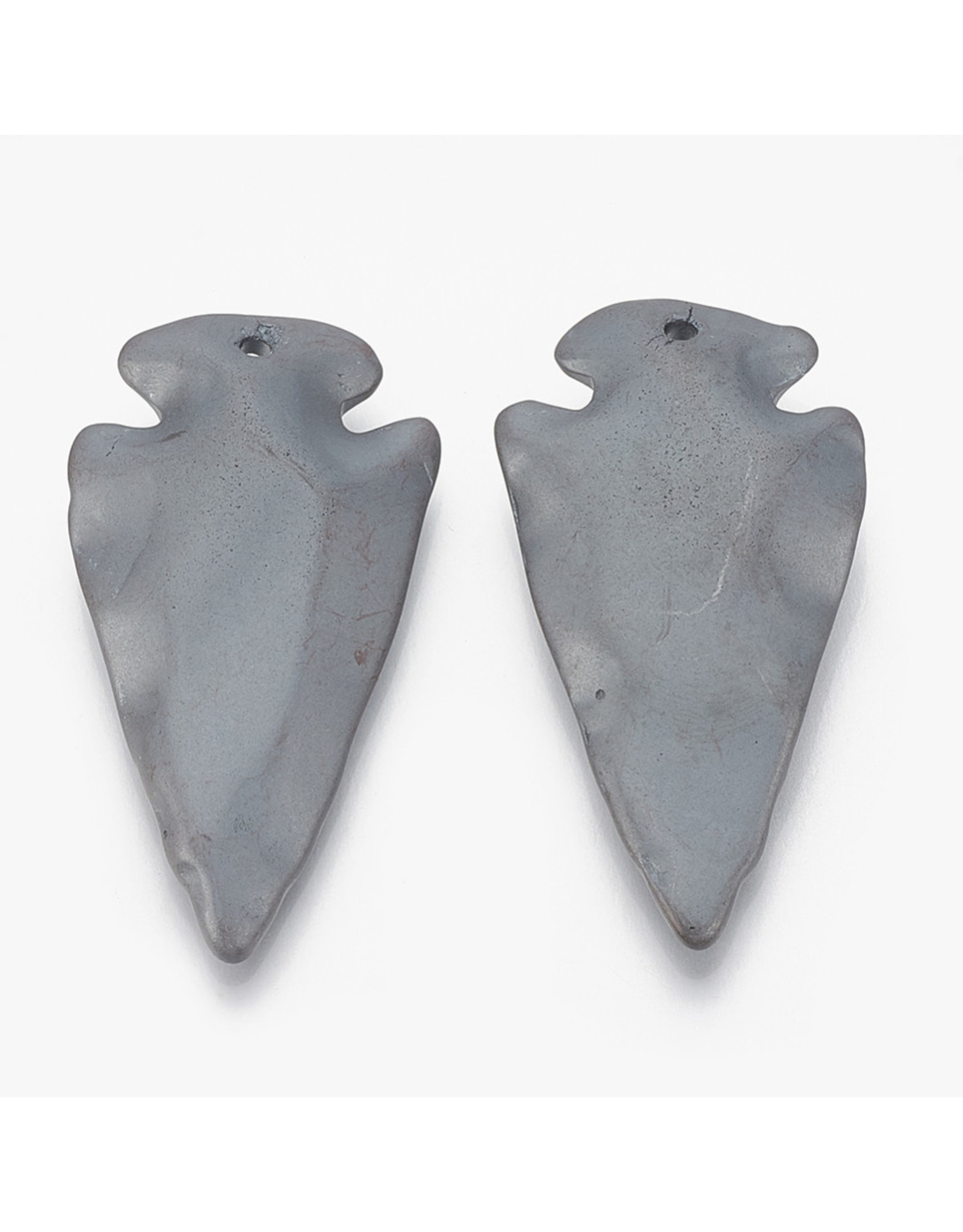 Arrowhead  45x24mm Synthetic Hematite