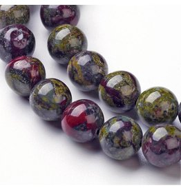 "Dragon Blood Jasper 8mm  15"" Strand"