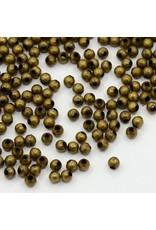 Spacer Bead Round 3mm  Antique Brass x100